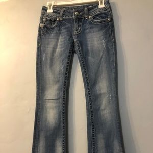Embellished Miss Me Boot Cut Jeans Size 25x31